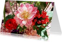 Bloemen roze&rood