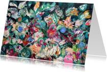 Bloemen schilderij kunst print