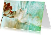 Bloemenkaart bloemen schilderij