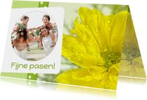 Bloemenkaart Pasen geel - BK