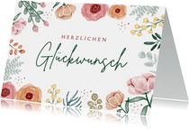 Blumen-Geburtstagskarte