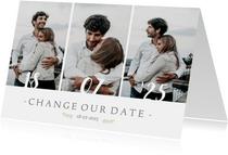 Change our date - annuleringskaart trouwdatum wijziging