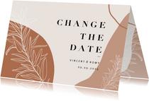 Change-the-Date Karte Hochzeitsdatum filigrane Zweige