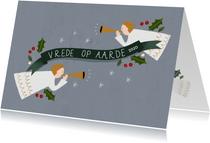 Christelijke kerstkaart met illustratie