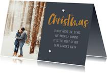 Christelijke kerstkaart met kerstlied en eigen foto