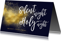 Christelijke kerstkaart Silent Night