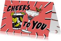 Cocktails verjaardagskaart