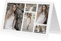 Collage Uitnodiging met 5 foto's
