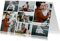 Collagekaart liggend met 7 foto's
