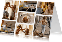 Collagekaart met 7 foto's liggend