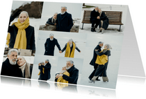Collagekaart met 8 foto's liggend