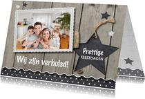 Combi kerst- en verhuiskaart