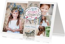 Communie collage uitnodiging