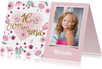 Communie meisje roze hart
