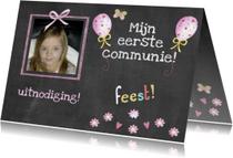 communie schoolbord foto
