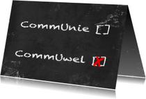 Communiekaarten - Communie wel niet krijtbord b