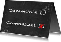 Communie wel niet krijtbord b