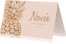 Communiekaart ananas koper aanpasbare kleur