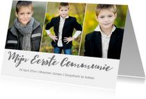 Communiekaart jongen 3 foto's