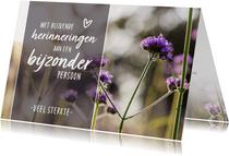 Condoleance - gedicht hartje bloemen