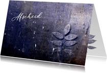 Condoleance kaart purple leaf