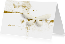 Condoleance kaart white butterfly