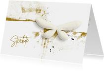 Condoleance kaart white butterfly