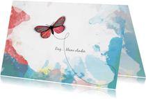 Condoleance kaart wolken vlinder
