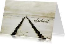 Condoleancekaart Afscheid Strand