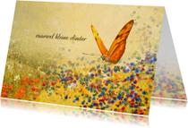 Condoleancekaart bloemenveld