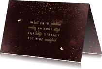 Condoleancekaart bordeaux met sparkles