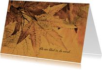 Condoleancekaart herfstbladeren grungy