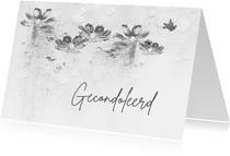 Condoleancekaart houtskool schets