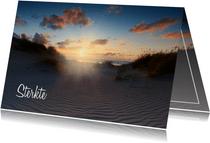 Condoleancekaart met een foto van de Hollandse Duinen