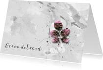 Condoleancekaart Pink Leaves