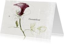 Condoleancekaart Roos Bordeaux