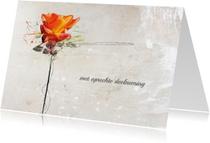 Condoleancekaart Roos Oranje Kracht