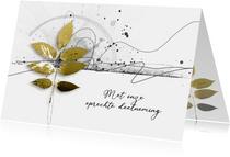 Condoleancekaart scribble goud takje