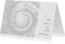 Condoleancekaarten - Condoleancekaart spiraal