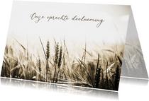 Condoleancekaart tarweveld met deelneming