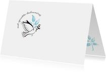 Condoleancekaart White Dove