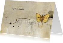 Condoleancekaart yellow butterfly