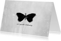 Condoleancekaart Zwarte Vlinder