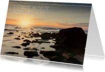 Condolencekaart met foto van zee
