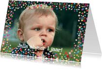 Confettikader sterren Eigen Foto