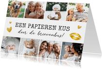 Corona fotocollage vaderdagkaart kus door de brievenbus