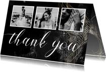 Dankeskarte Hochzeit Fotocollage elegant-industriell