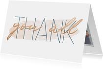 Dankeskarte Hochzeitstag Thank you all