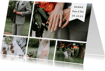 Dankeskarte zur Hochzeit Fotocollage