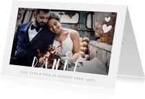 Dankeskarte zur Hochzeit mit eigenem Foto und Text